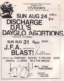 Dayglo/Discharge/D.R.I.