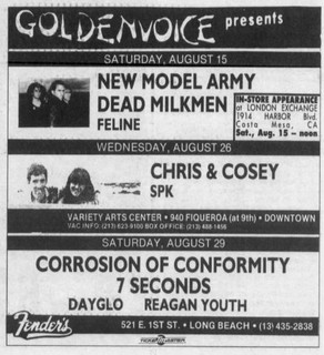 Dayglo, New Model Army, COC, 7 Seconds