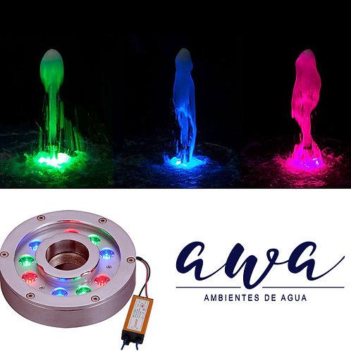 Luz Sumergible RGB para fuente de agua