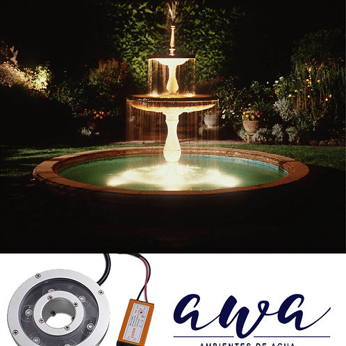 Luces Sumergibles para fuentes de Agua monocolor
