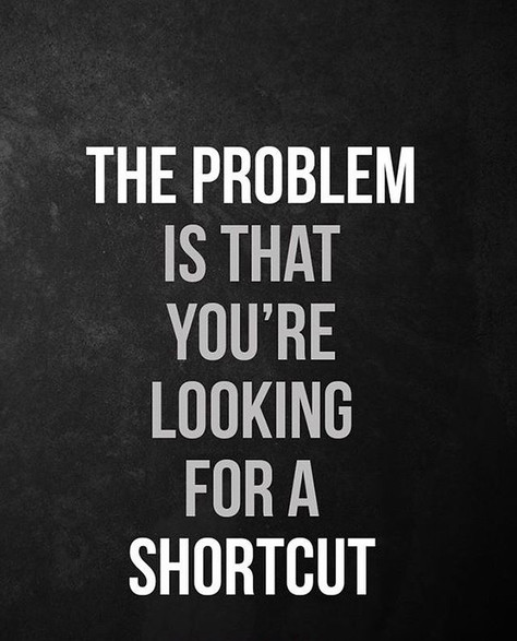 Are you opting for shortcuts?