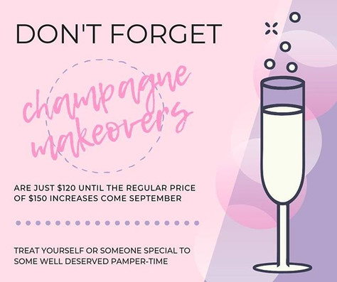 Discounted Champagne Makeover