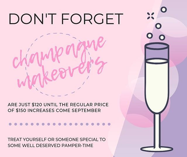 champagne makeovers