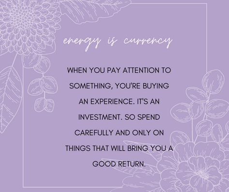 Your Energy is Currency
