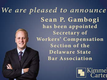 Sean Gambogi Appointed Secretary of the Workers' Compensation Section of the Delaware State Bar Asso