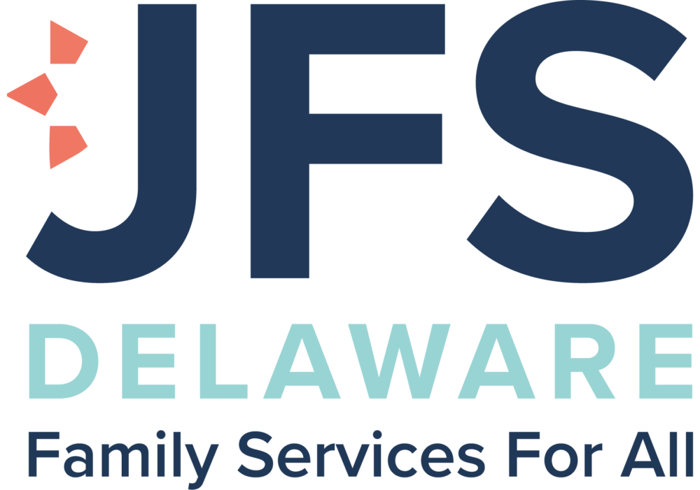 This logo is for the Jewish Family Services of Delaware. They support the Delaware Community with counseling services for every individual background.