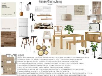 Kitchen/Dining Sample Board