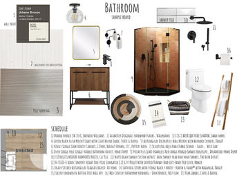 Bathroom Sample Board