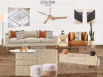 Living Room Concept Board