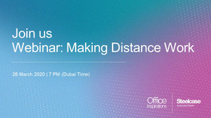 WEBINAR MAKING DISTANCE WORK