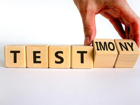 Testify! Turn Your Test Into a Testimony