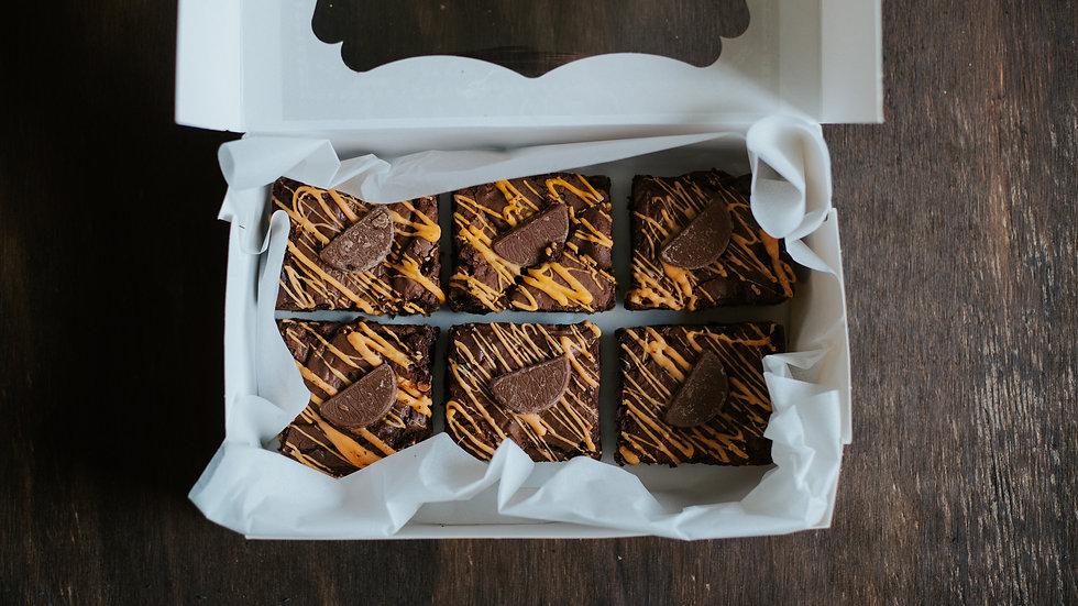 CHOCOLATE ORANGE BROWNIE BOX OF 6