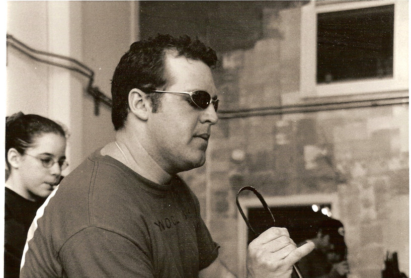 Jeff at Rynoglass December 2003.jpg