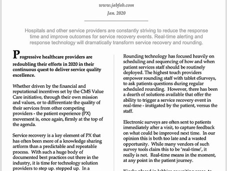 The Case For Real-Time Service Recovery Technology In Healthcare Provider Systems