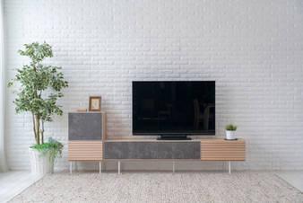 BELL 1800 TV STAND & SIDEBOARD (Red oak OAW)