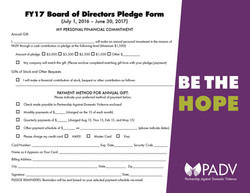 PADV Pledge card