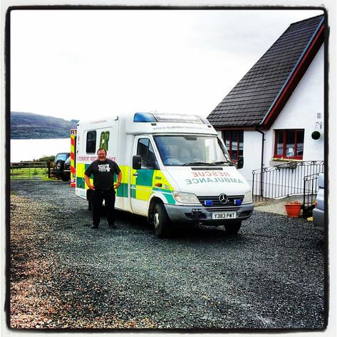Mercedes Sprinter in Welsh Ambulance livery