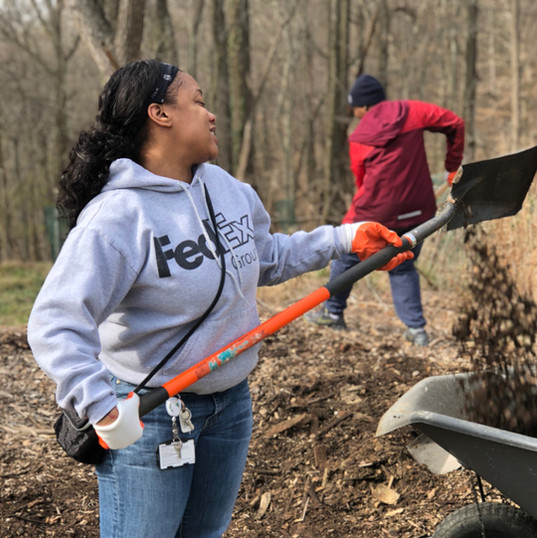 Volunteers at Carrie Murray Nature Center