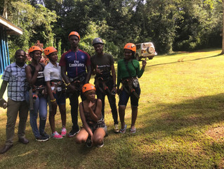 Zip-Lining in Mabira Forest