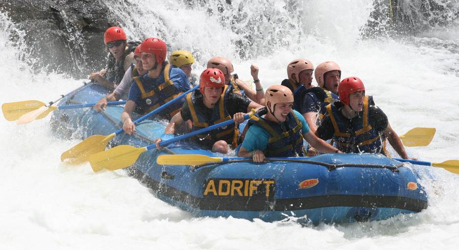 Water rafting at White Nile