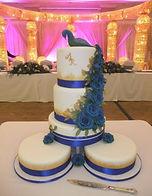 Amit & Radhika Engagement Peacock Cake.J