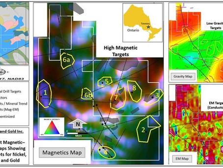 Fortune Nickel and Gold Inc. Completes Geophysical Survey Review and Identifies Eight Anomalies...