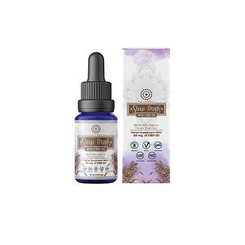 Sleep Drops With Hemp Oil - Natural Sleep Aid Tincture (15 Ml)