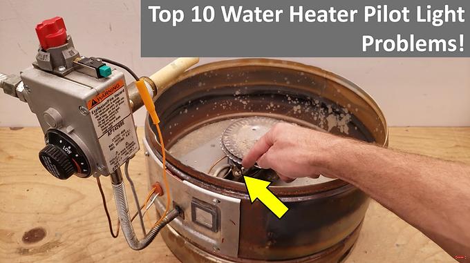 Top 10 Gas Water Heater Pilot Light Problems! When It Won't Stay Lit!