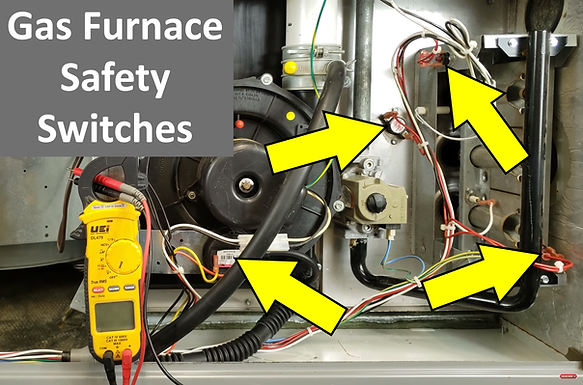 Gas Furnace Electrical Safety Switch Testing!
