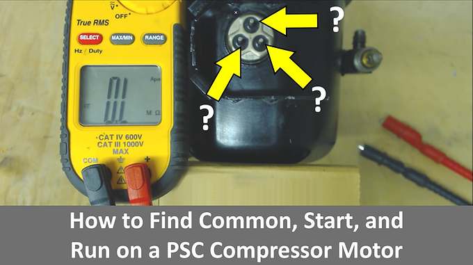 How to Find Common, Start, and Run on a PSC Compressor Motor!