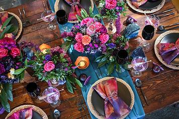 Kelly Kennedy Weddings - Teal & Purple Table Display