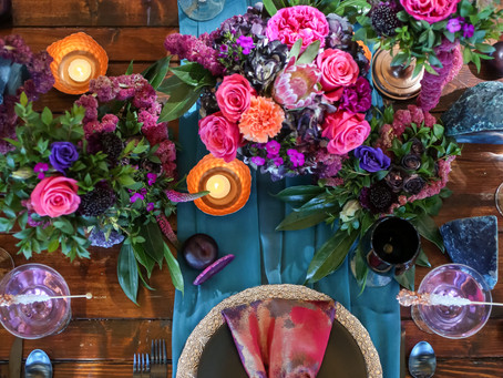 Vibrant Purple and Pink Inspired Styled Shoot