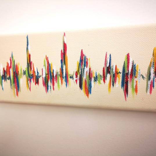 Rainbow baby heartbeat painting