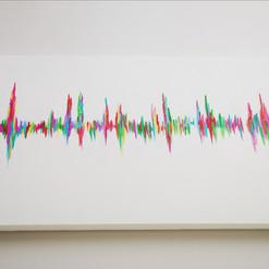My baby's heartbeat on large deep narrow canvas