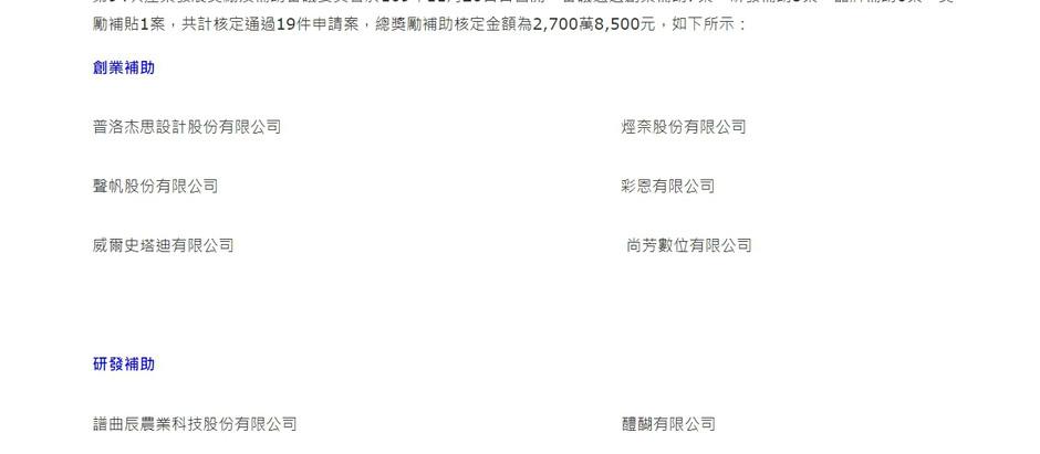恭喜 樂飛團隊 通過台北市研發補助 200萬!