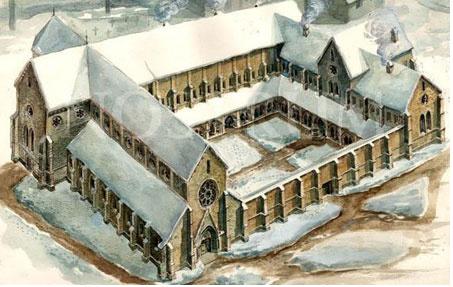 Why did Matthias Corvinus disband the Cistercian Monastery of Kerz?