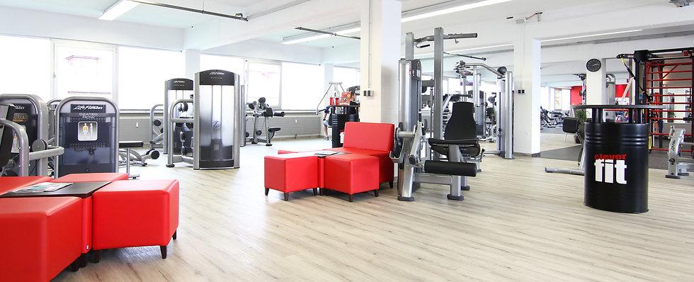 Einblick ins Fitnessstudio