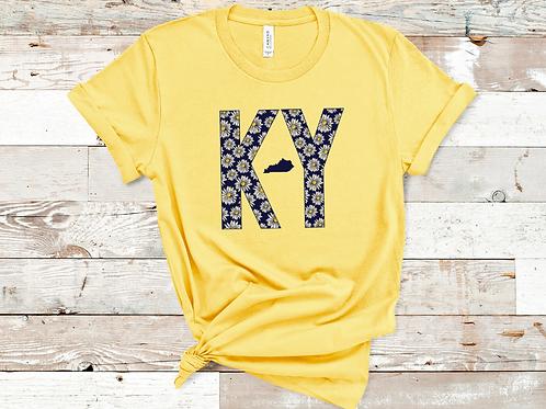 KY Daisy Kentucky Maize Yellow T-shirt