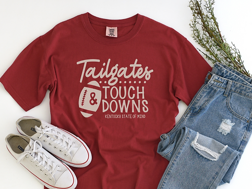 ailgates and Touchdowns Chili Red Tee Shirt
