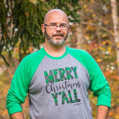Chef Jason Smith Merry Christmas Y'all Buffalo Plaid Shirt
