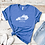 606 Kentucky Area Code Royal Blue Shirt