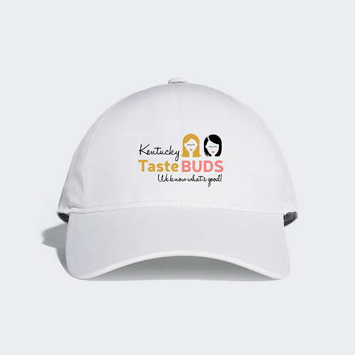 Kentucky Taste Buds Embroidered Logo Cap White on White Background