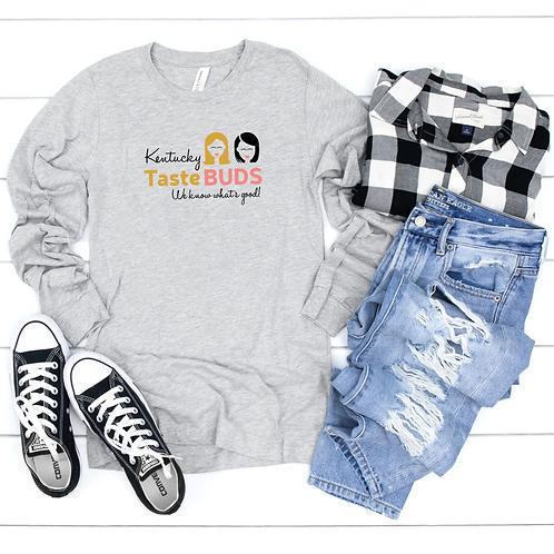 Kentucky Taste Buds Long Sleeve Logo Tee Gray Plaid