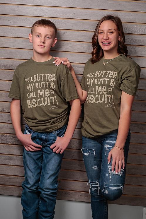 Chef Jason Smith Butter My Butt Kids Shirt