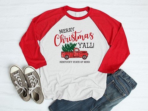 Merry Christmas Y'all Old Vintage Truck Shirt