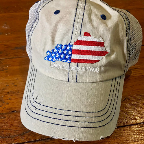 Kentucky American Flag Hat