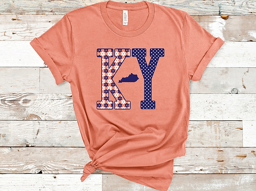 KY Floral Kentucky Sunset T-shirt