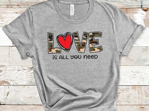 Camo Valentines Day Shirt