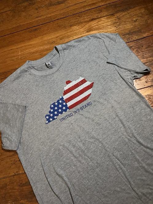 Kentucky American Flag T Shirt