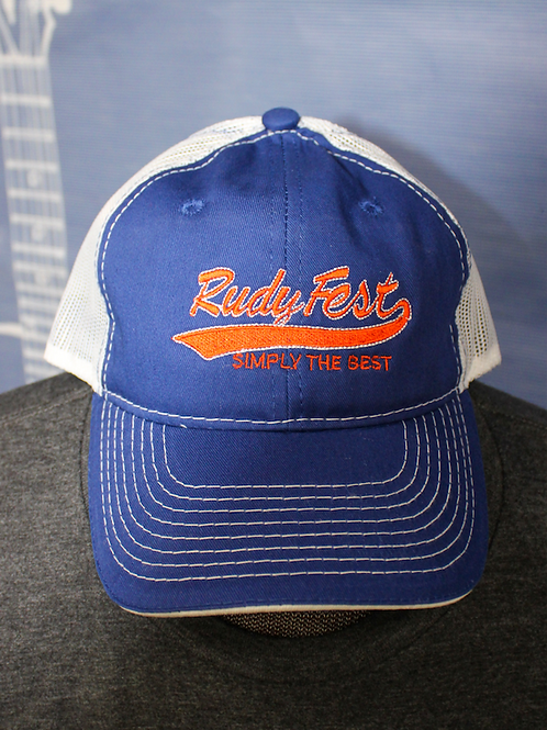 Rudy Fest 2020 Blue and White Cap